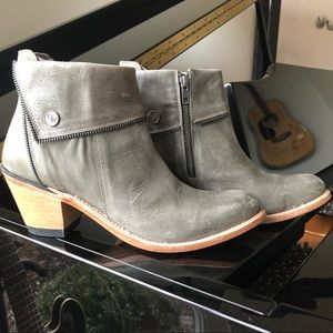 Old West leather booties